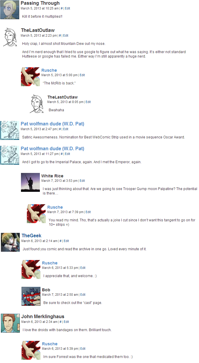 Archived Comments I
