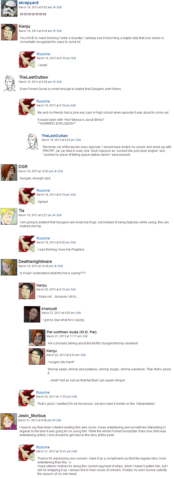 Archived Comments V