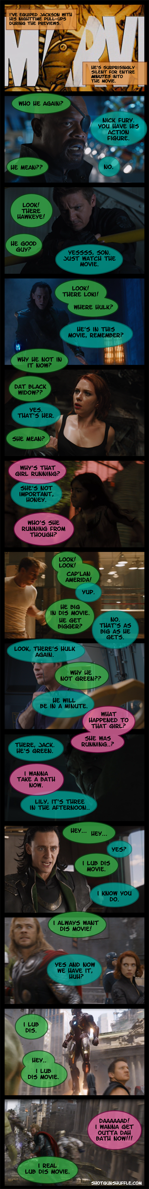 Avengers with a 3 yr old